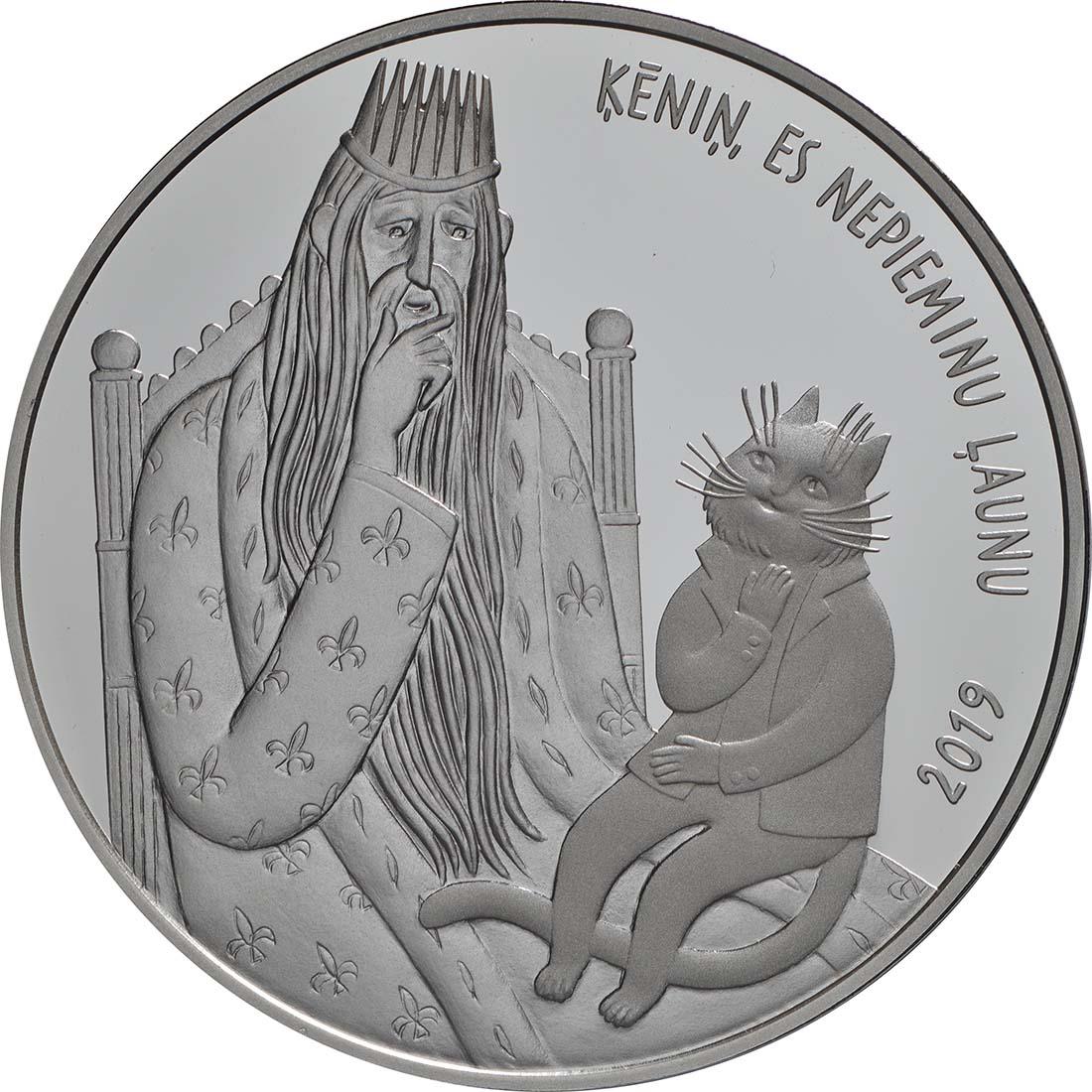 Vorderseite:Lettland : 5 Euro Katzen Mühle  2019 Stgl.