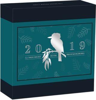 Zertifikat:Australien : 1 Dollar Kookaburra - Highrelief  2019 PP