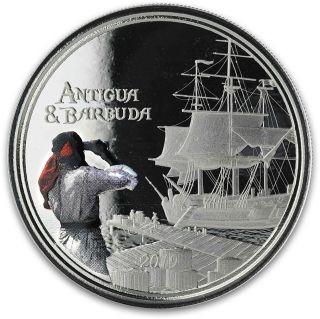 Vorderseite:Antigua und Barbuda : 2 Dollar Rum Runner (Schmuggler-Schiff)  2019 PP