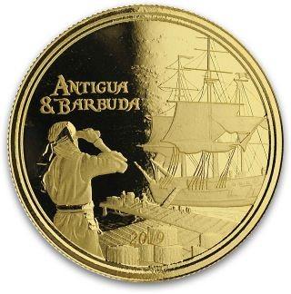 Vorderseite:Antigua und Barbuda : 10 Dollar Rum Runner (Schmuggler-Schiff)  2019 Stgl.