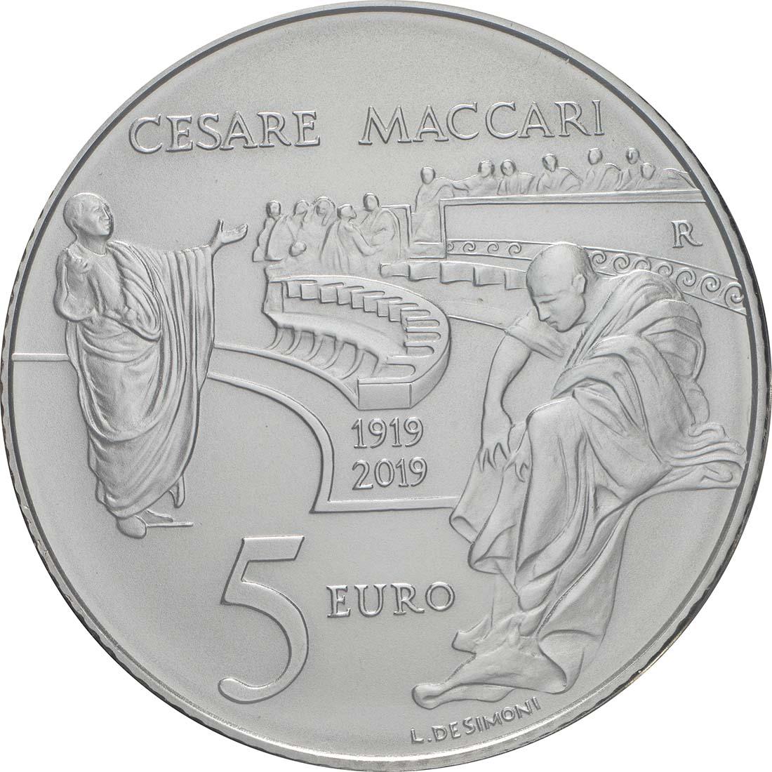 Rückseite:Italien : 8,88 Euro KMS Italien incl. 5 Euro Cesare Maccari Si  2019 Stgl.