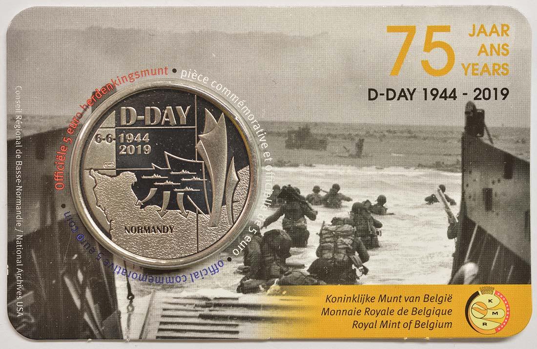 Lieferumfang:Belgien : 5 Euro 75 Jahre D-Day  2019 bfr