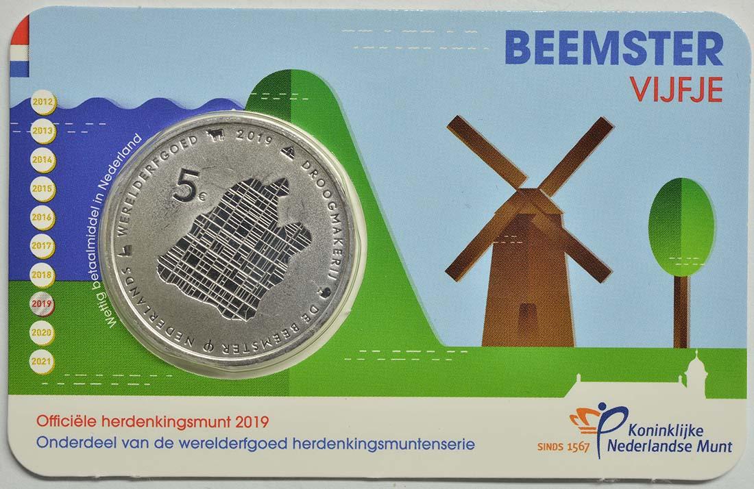 Lieferumfang:Niederlande : 5 Euro Beemster  2019 vz.