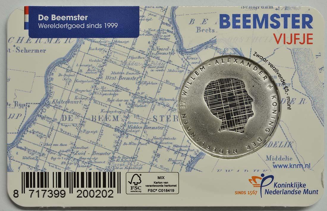 Zertifikat:Niederlande : 5 Euro Beemster  2019 vz.