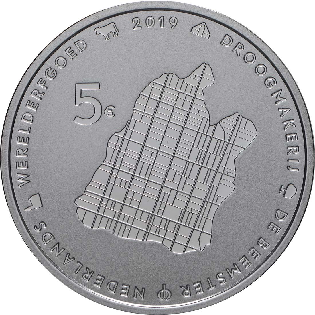 Vorderseite:Niederlande : 5 Euro Beemster  2019 PP