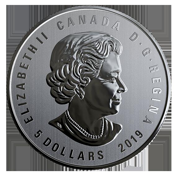 Rückseite:Kanada : 5 Dollar Das ist Canada  2019 Stgl.