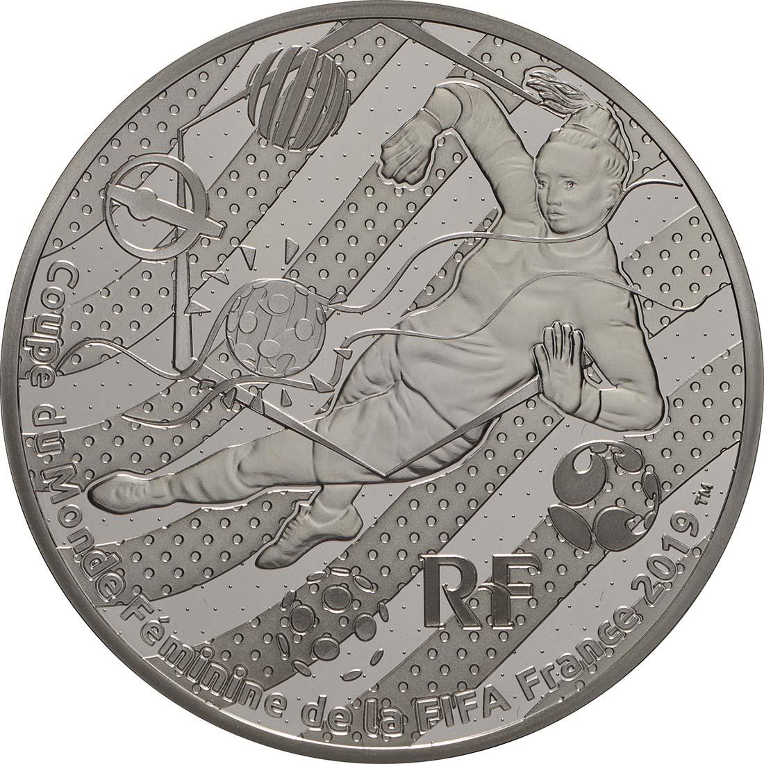 Vorderseite:Frankreich : 10 Euro Torwart  2019 PP
