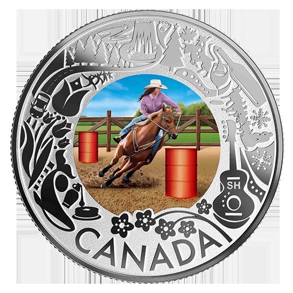 Vorderseite:Kanada : 3 Dollar Rodeo – Kanadische Feste #7  2019 PP