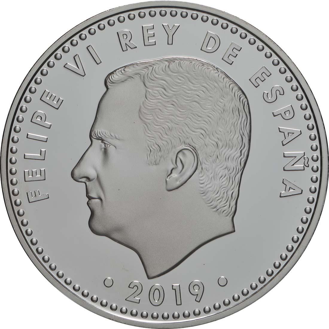 Rückseite:Spanien : 10 Euro Mondlandung  2019 PP