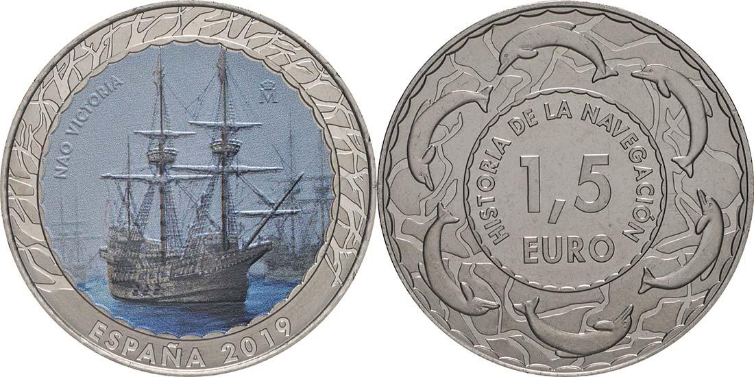 Lieferumfang:Spanien : 1,5 Euro Nao Victoria #13  2019 bfr