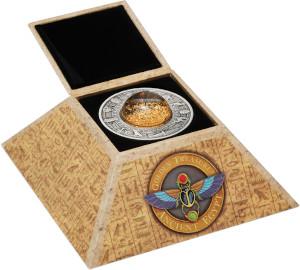 Lieferumfang:Tuvalu : 2 Dollar Schätze des Alten Ägypten-mit Goldpartikeln  2019 Stgl.