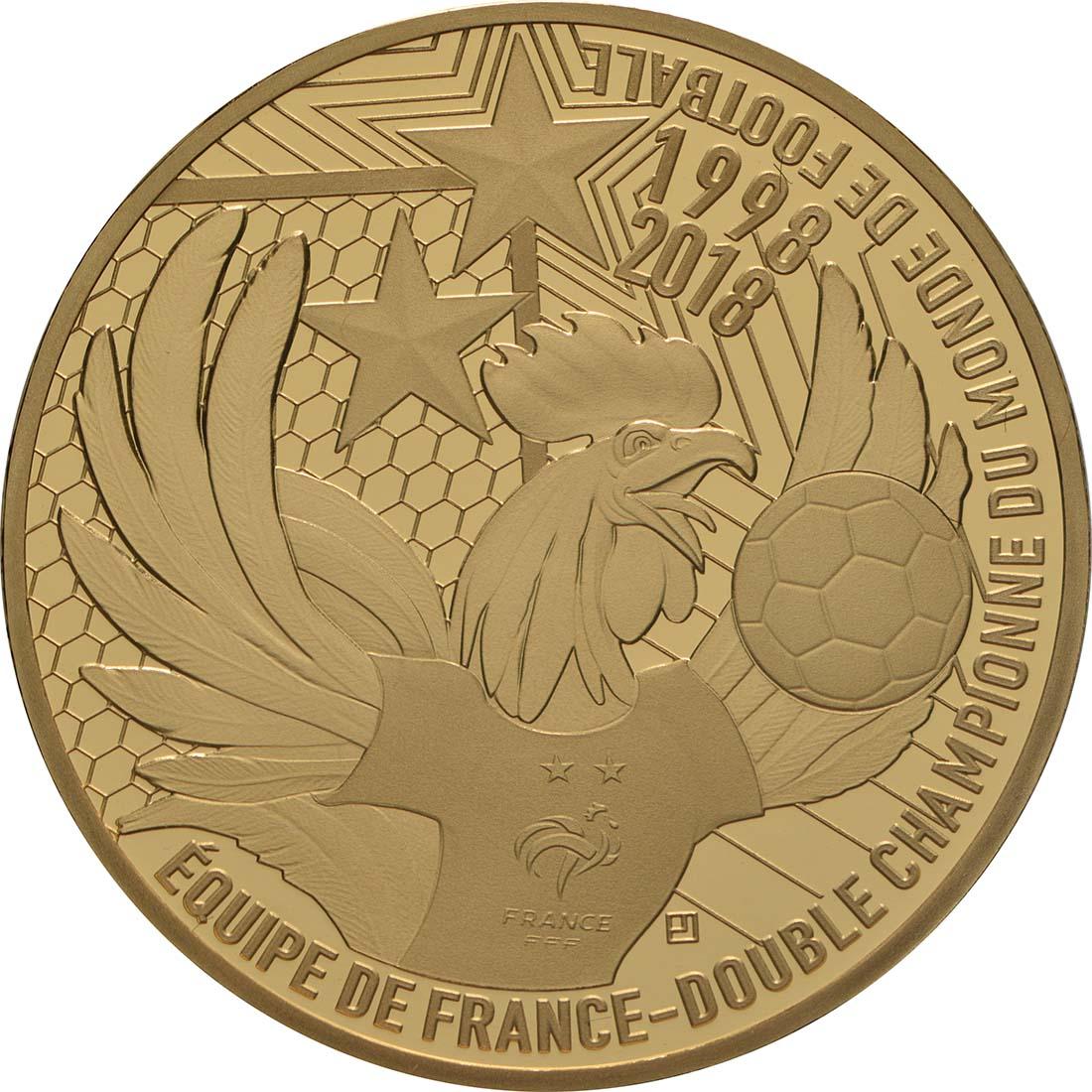 Vorderseite:Frankreich : 50 Euro Fußballweltmeister Frankreich  2018 PP