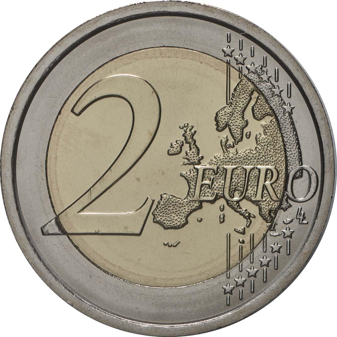 Vorderseite:San Marino : 2 Euro Der Heilige Marinus  2019 Stgl.