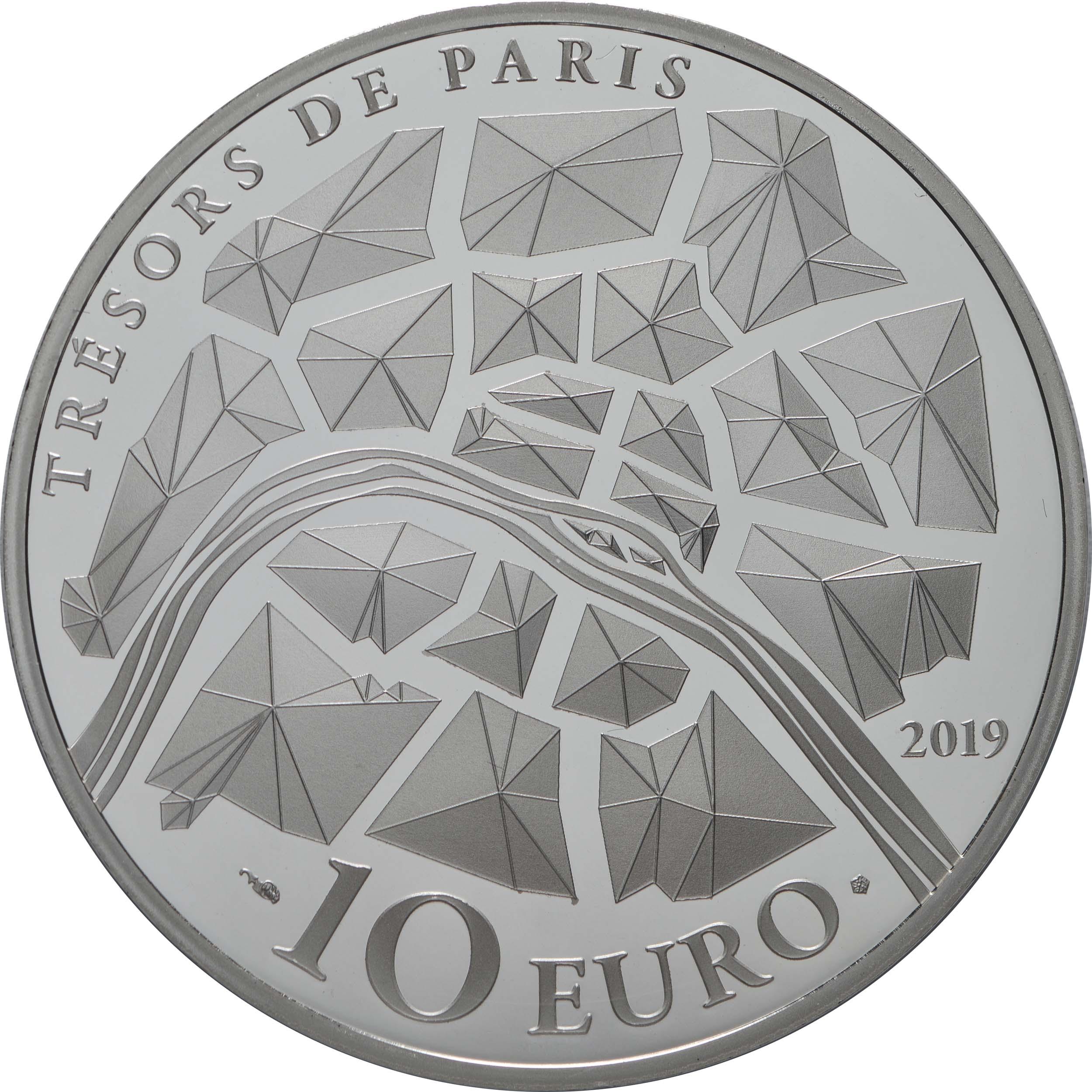 Rückseite:Frankreich : 10 Euro Eiffelturm  2019 PP