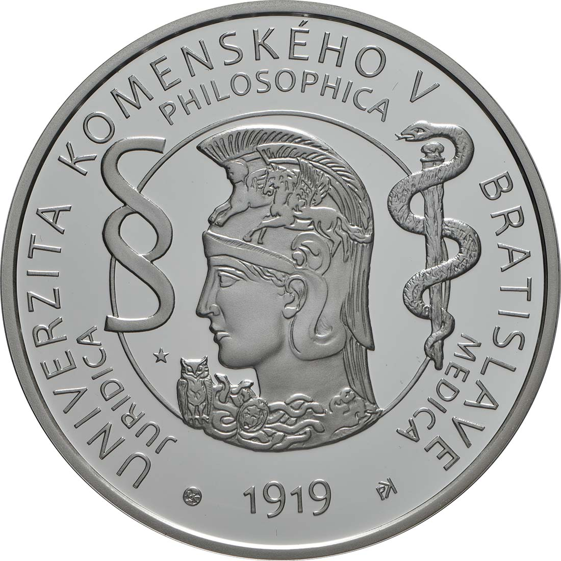 Vorderseite:Slowakei : 10 Euro Komenskeho Universität in Bratislava  2019 PP