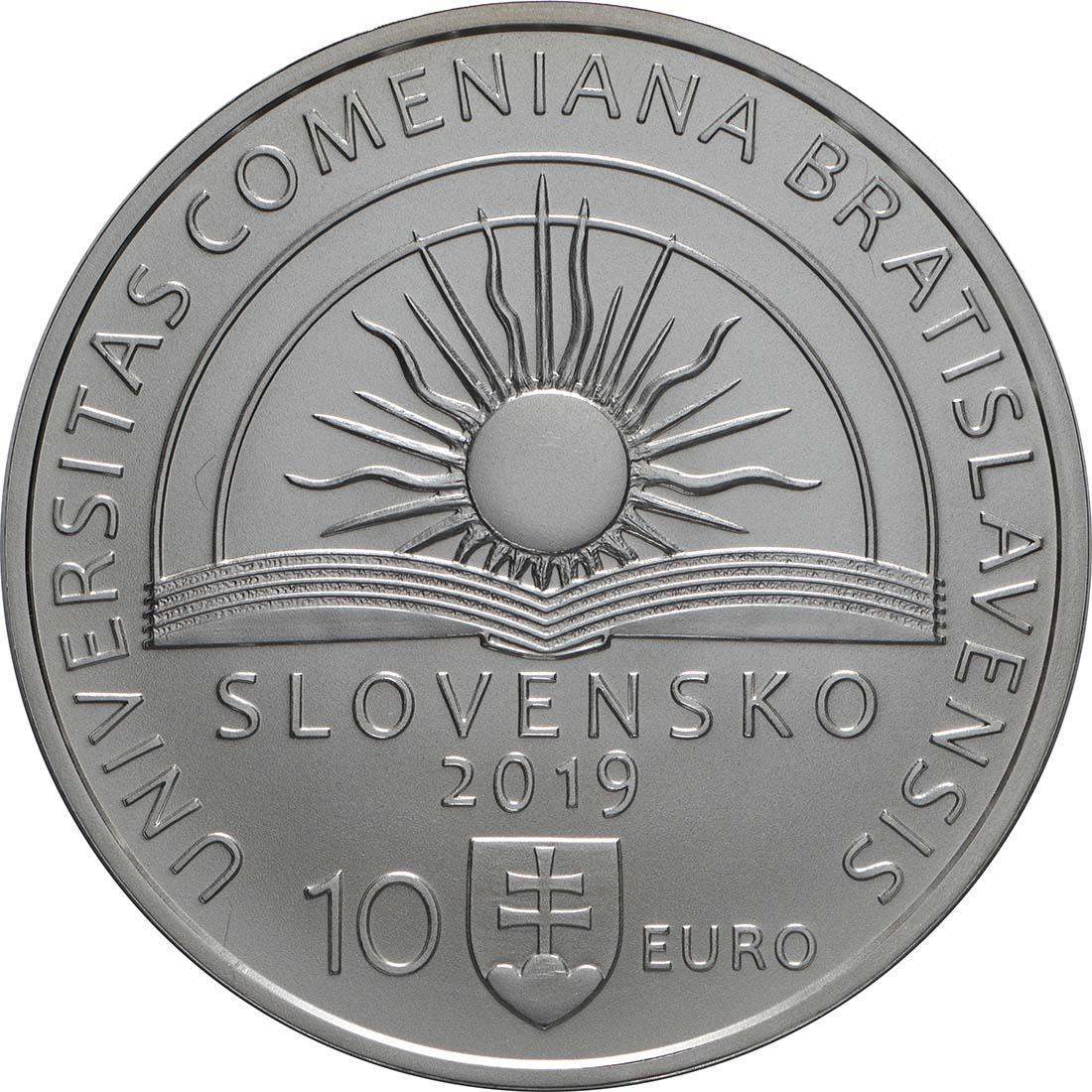 Rückseite:Slowakei : 10 Euro Komenskeho Universität in Bratislava  2019 Stgl.