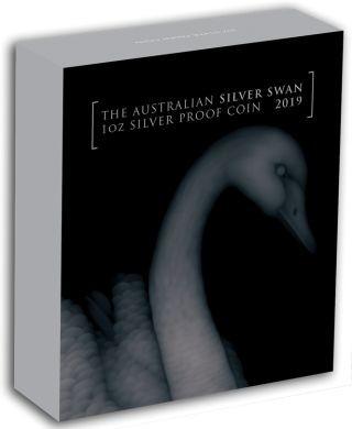 Lieferumfang:Australien : 1 Dollar Schwan - im Etui  2019 PP