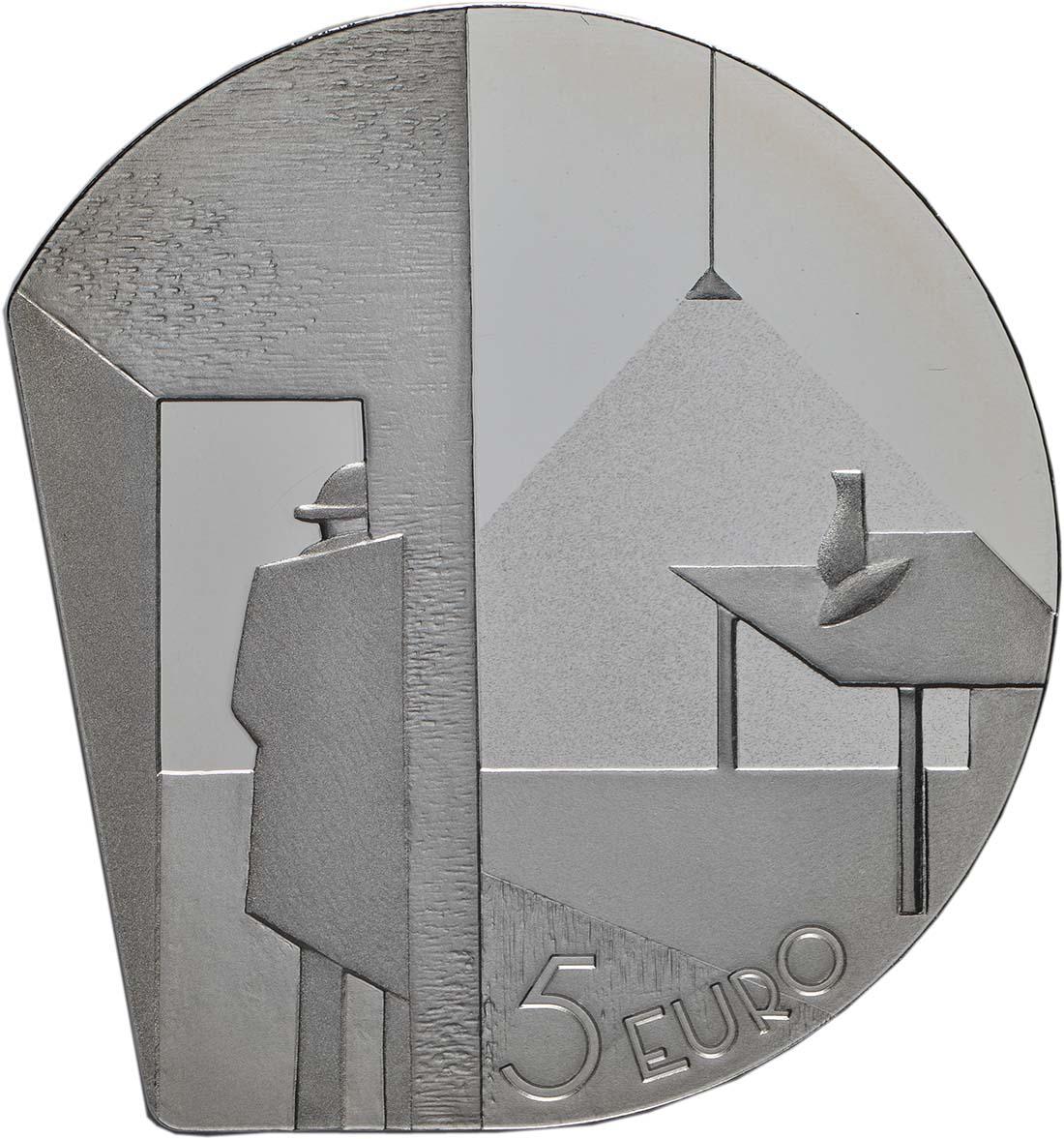 Rückseite:Lettland : 5 Euro Niklavs Strunke  2019 PP
