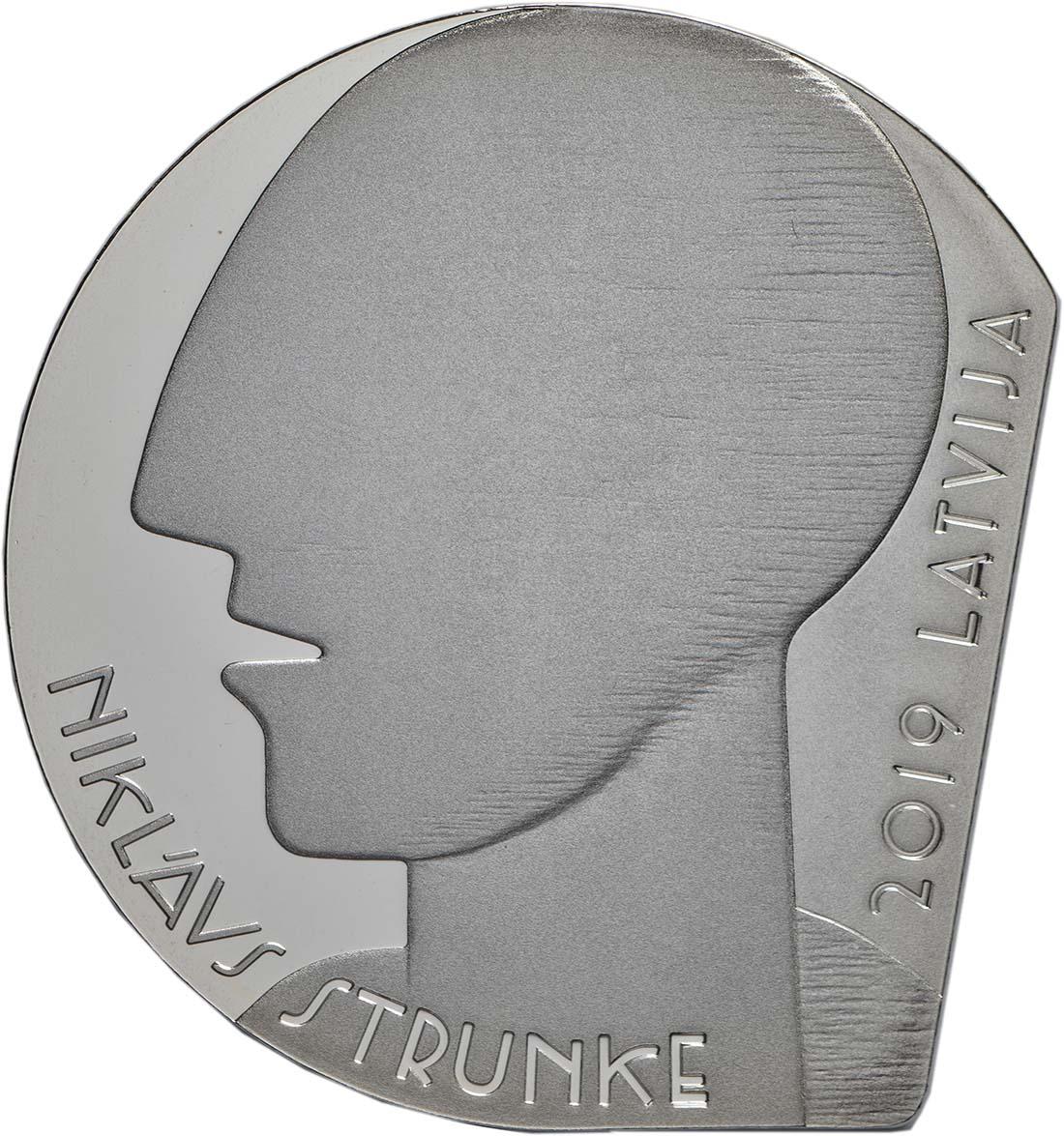 Vorderseite:Lettland : 5 Euro Niklavs Strunke  2019 PP