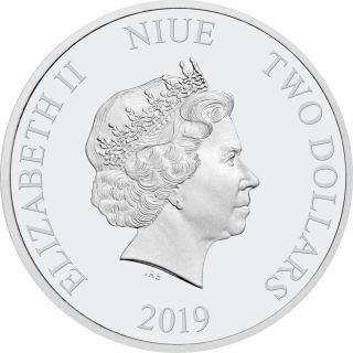 Rückseite:Niue : 2 Dollar Miss Piggy - The Muppets #3   1 oz  2019 PP
