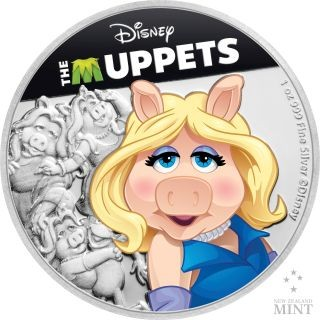 Vorderseite:Niue : 2 Dollar Miss Piggy - The Muppets #3   1 oz  2019 PP
