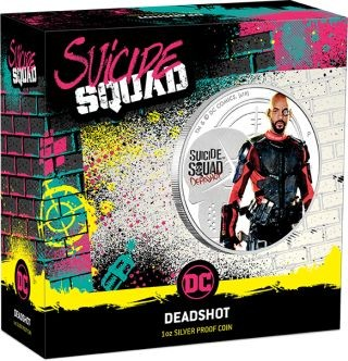 Zertifikat:Tuvalu : 1 Dollar Suicide Squad - Deadshot 1 oz  2019 PP