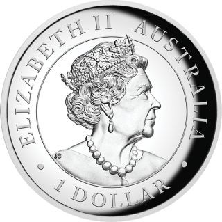 Rückseite:Australien : 1 Dollar Koala - Highrelief 1 oz  2019 PP
