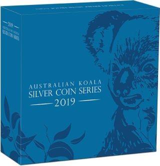 Zertifikat:Australien : 1 Dollar Koala - Highrelief 1 oz  2019 PP
