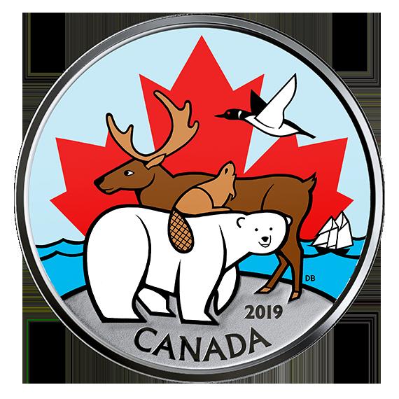 Vorderseite:Kanada : 3,9 Dollar Kurssatz - Canadas Ikonen  2019 Stgl.
