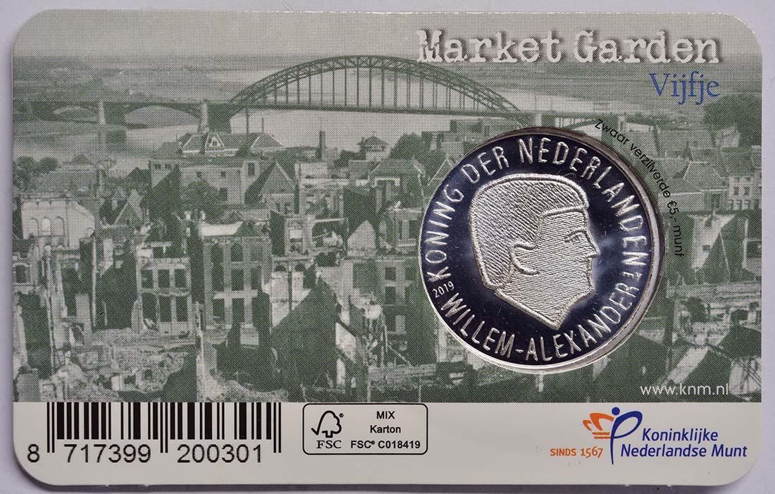 Zertifikat:Niederlande : 5 Euro 75 Jahre Market Garden  2019 bfr