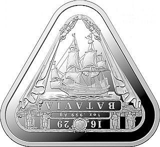 Lieferumfang:Australien : 1 Dollar Segelschiff Batavia - Dreiecksmünze 1 oz  2019 Stgl.