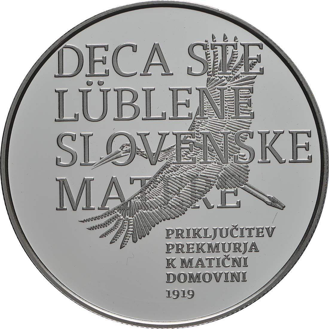Vorderseite:Slowenien : 30 Euro 100 J. Wiedereingliederung von Prekmurje  2019 PP