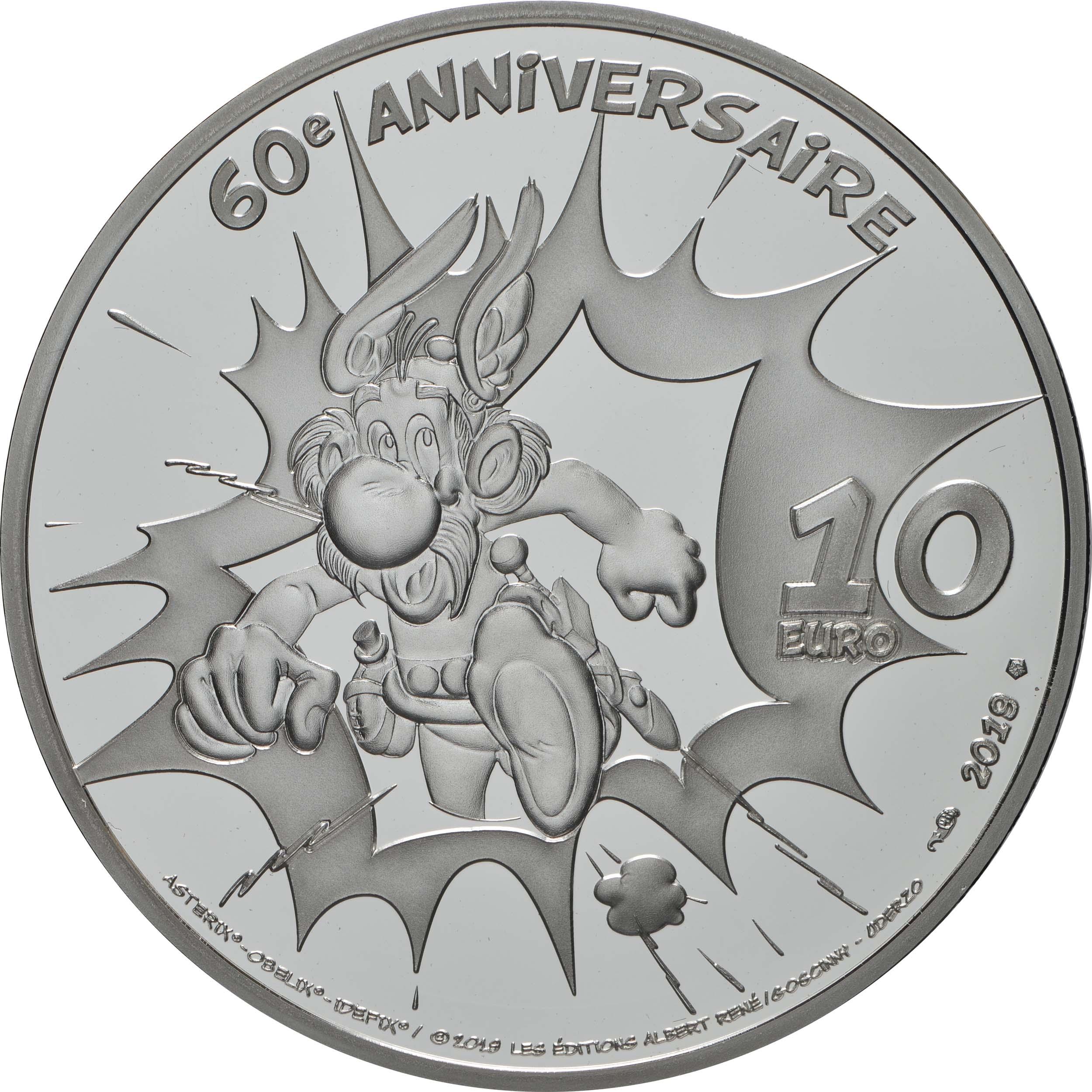 Rückseite:Frankreich : 10 Euro Asterix  2019 PP