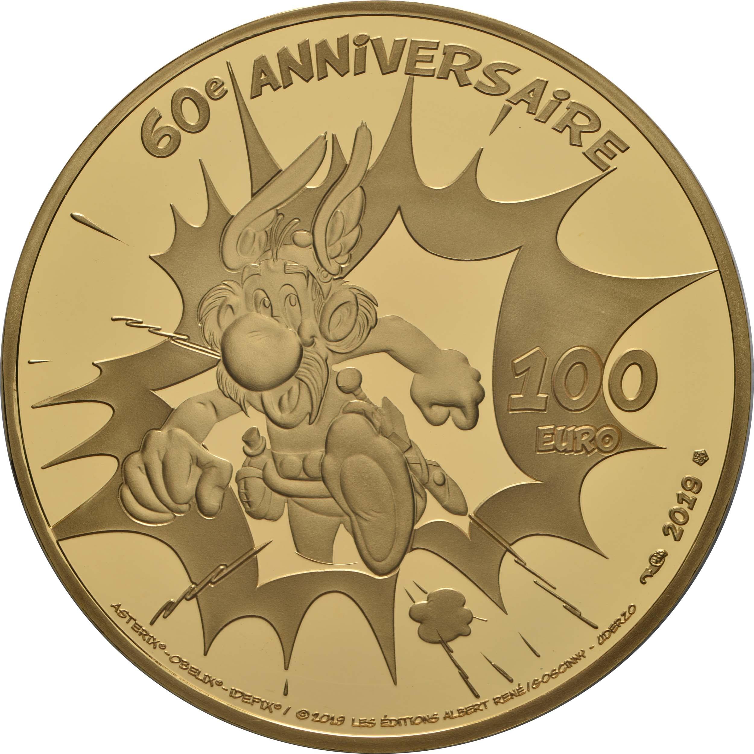 Rückseite:Frankreich : 100 Euro Asterix  2019 PP