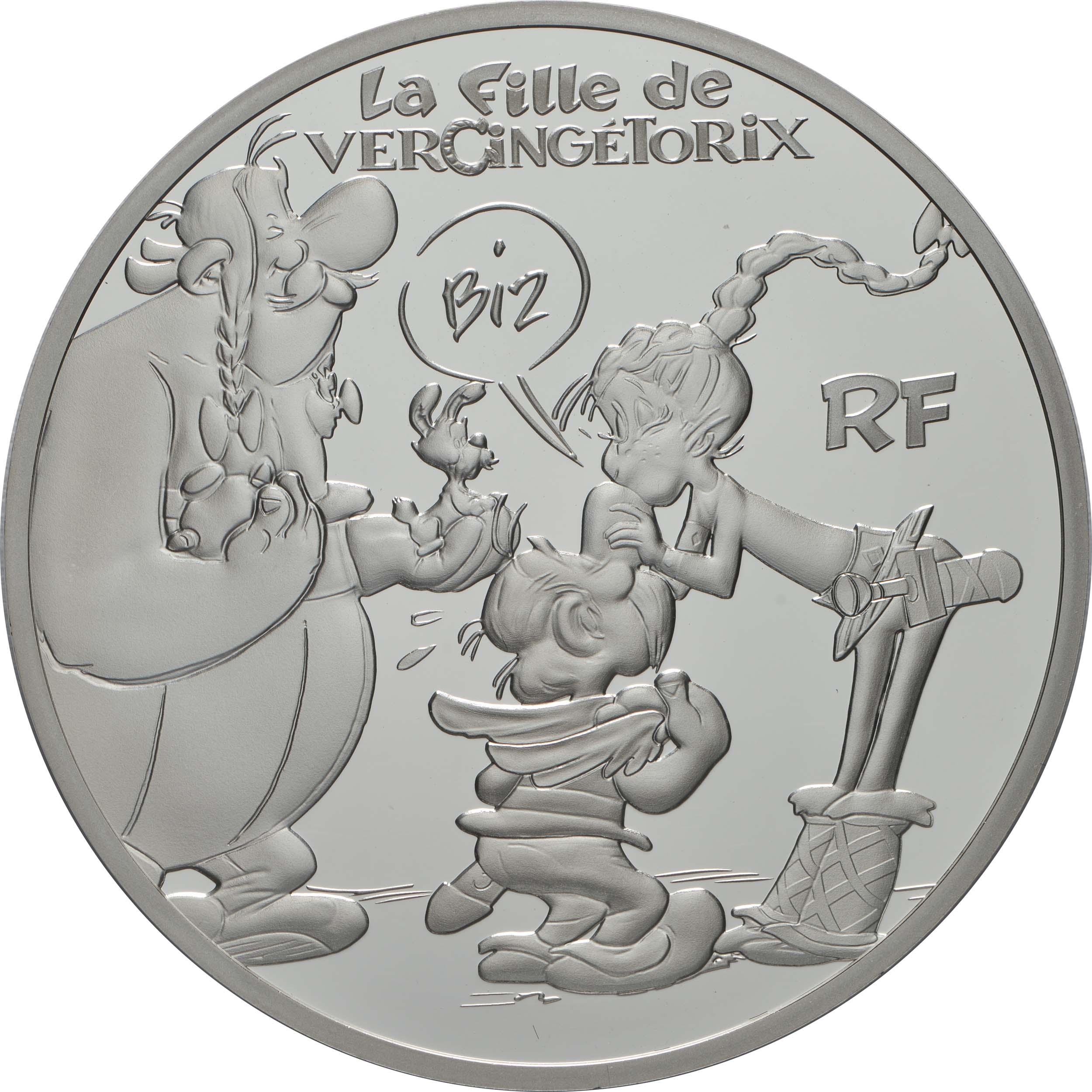 Vorderseite:Frankreich : 10 Euro Asterix - neues Album  2019 PP