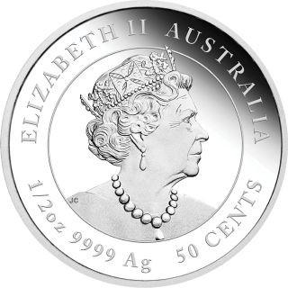 Rückseite:Australien : 50 Cent Jahr der Maus 1/2 oz  2020 PP