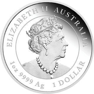 Rückseite:Australien : 1 Dollar Jahr der Maus 1 oz  2020 PP