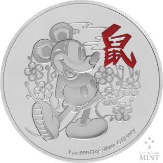 Vorderseite:Niue : 2 Dollar Disney - Jahr der Maus   1 oz  2020 PP