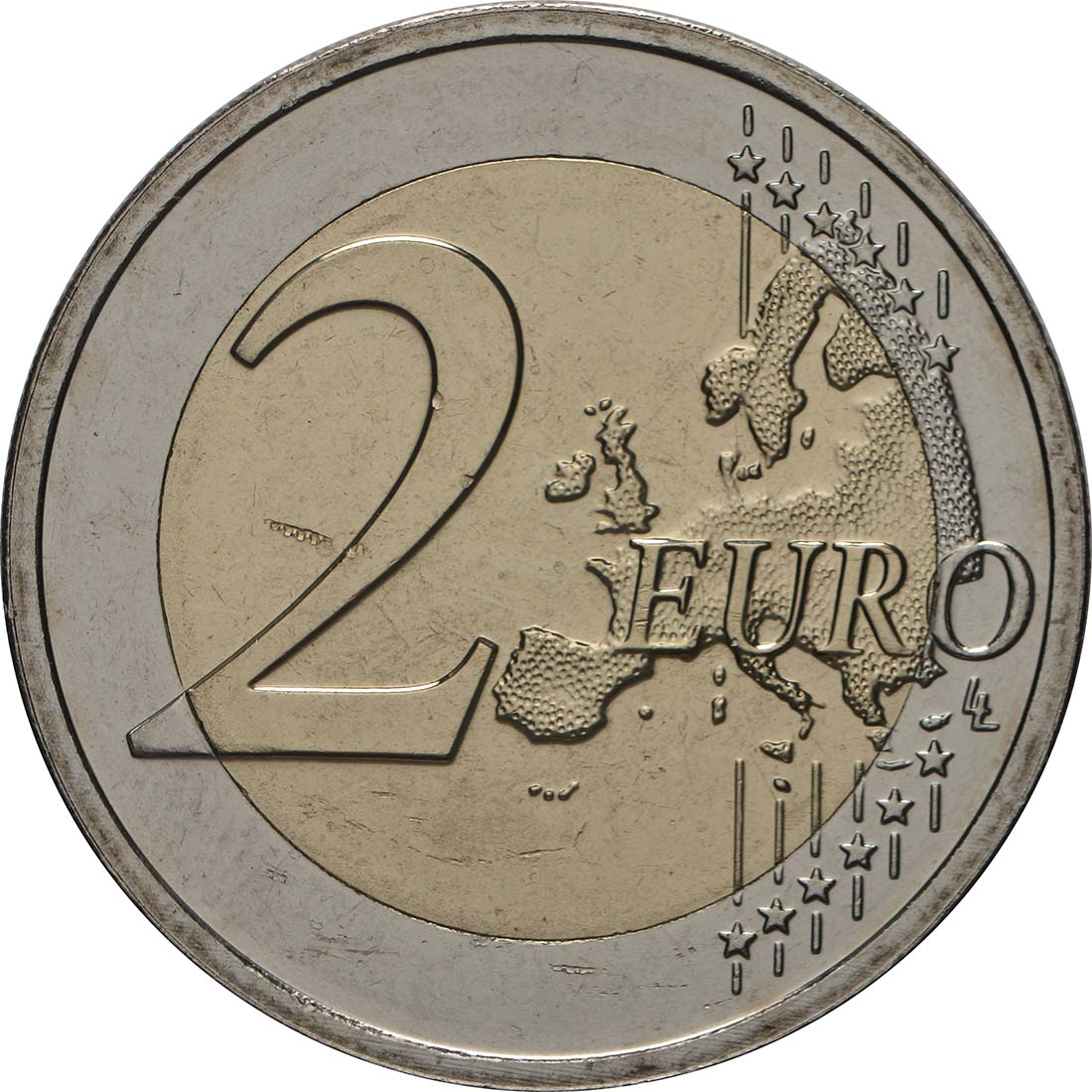 Vorderseite:Lettland : 2 Euro Die aufgehende Sonne  2019 bfr