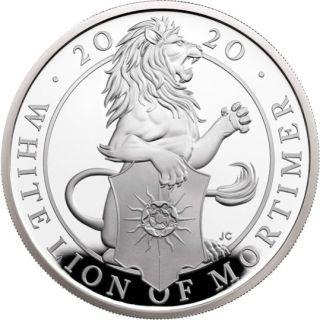 Rückseite:Großbritannien : 500 Pfund The Queen´s Beasts #7 - Weißer Löwe 1 kg  2020 PP