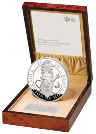 Lieferumfang:Großbritannien : 500 Pfund The Queen´s Beasts #7 - Weißer Löwe 1 kg  2020 PP