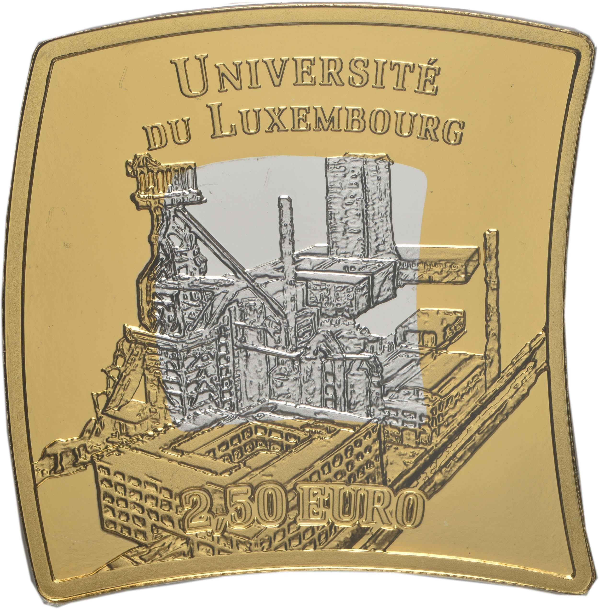 Vorderseite:Luxemburg : 2,5 Euro Universität von Luxemburg  2019 PP