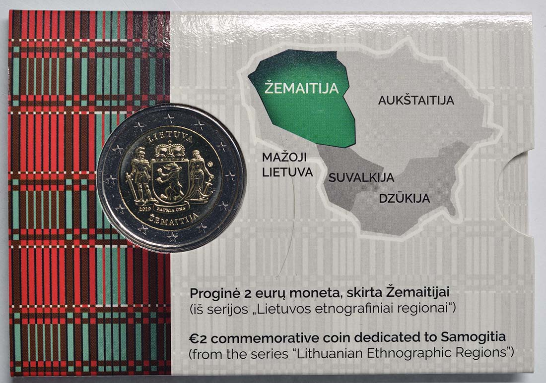 Lieferumfang:Litauen : 2 Euro Zemaitija (Samogitien)  2019 Stgl.