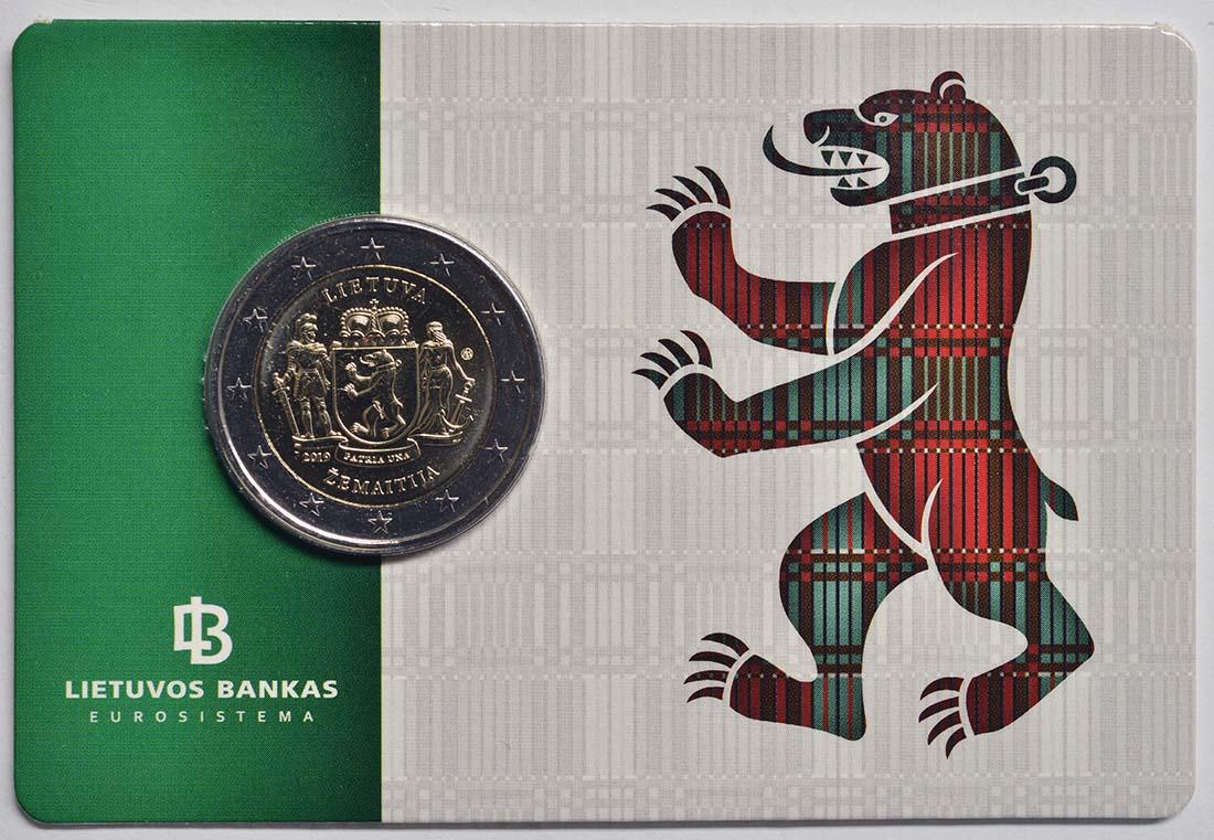 Vorderseite:Litauen : 2 Euro Zemaitija (Samogitien)  2019 Stgl.