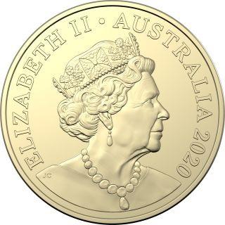 Zertifikat:Australien : 2x1 Dollar RAM Jahr der Ratte - 2er Set in Coincard  2020 Stgl.