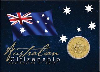 Lieferumfang:Australien : 1 Dollar Australische Staatsbürgerschaft  2020 Stgl.