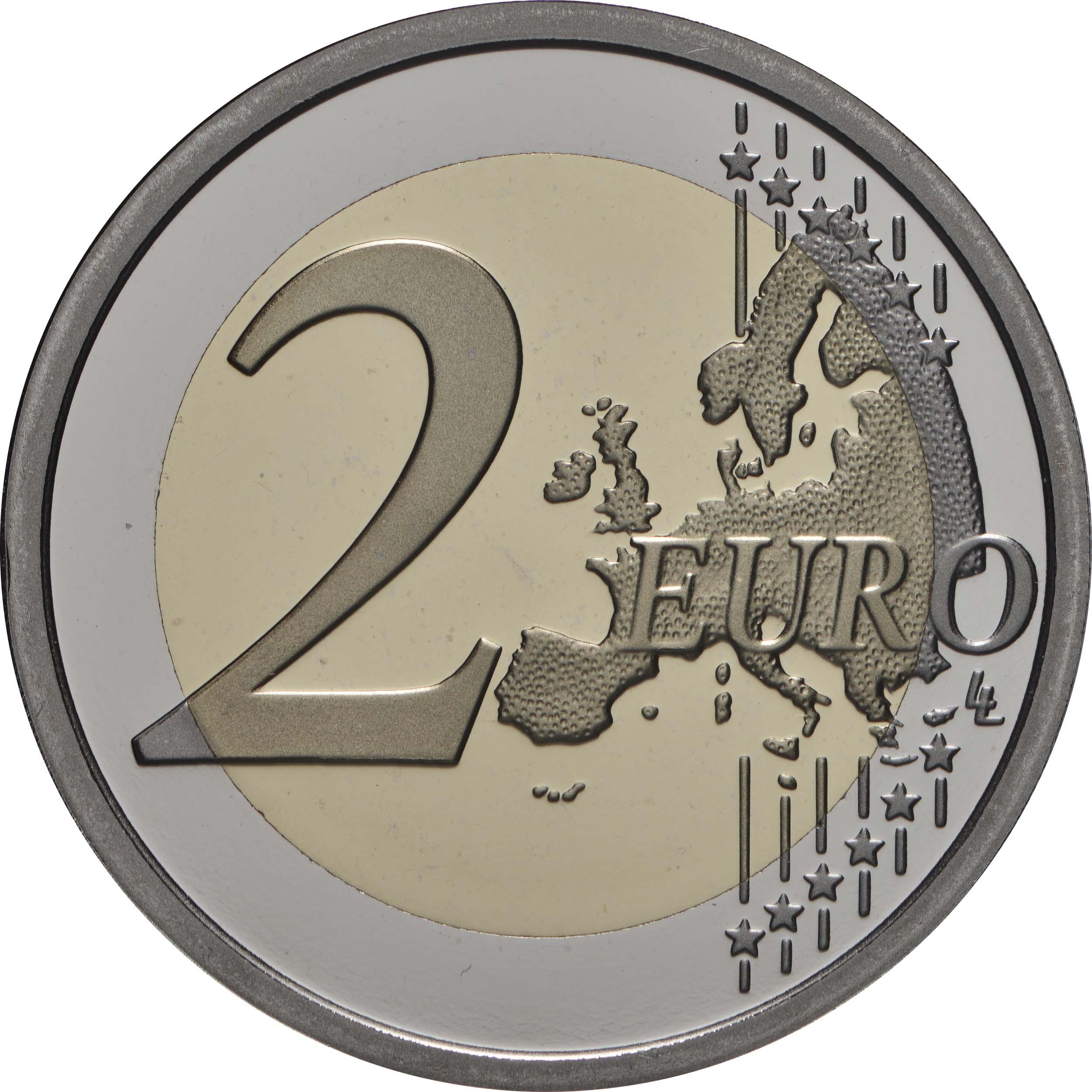 Vorderseite:Vatikan : 2 Euro 25. Jahrestag der Restaurierung der Sixtinischen Kapelle  2019 PP