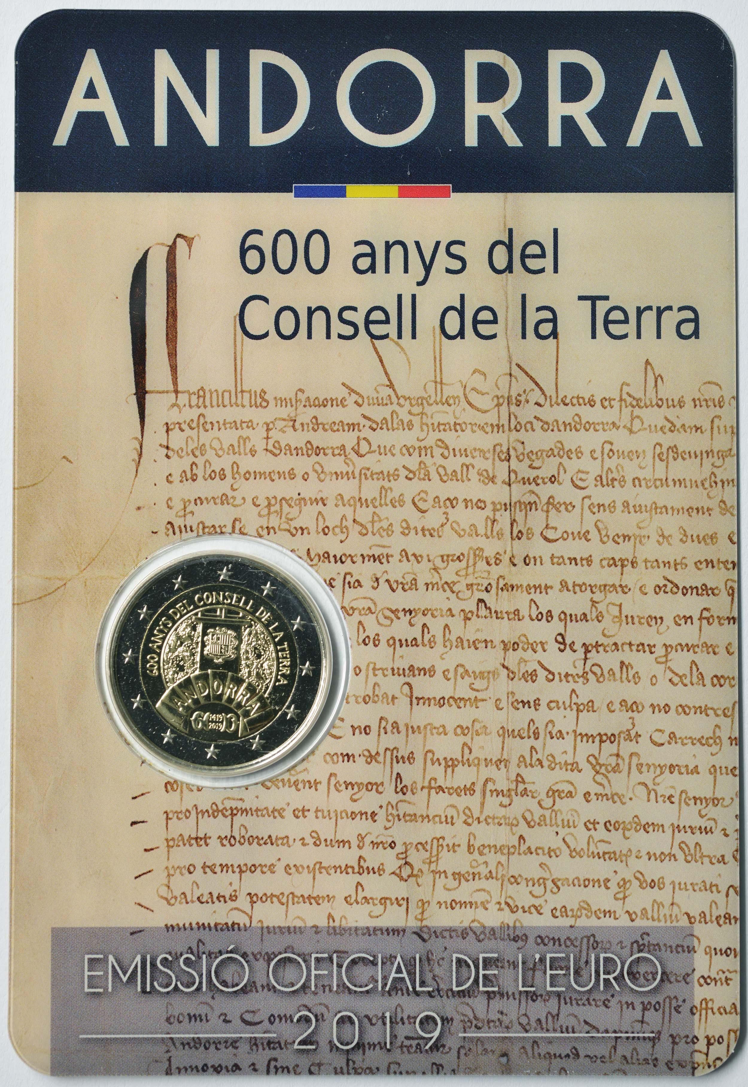 Lieferumfang:Andorra : 2 Euro 600 Jahre Weltkonzil  2019 bfr