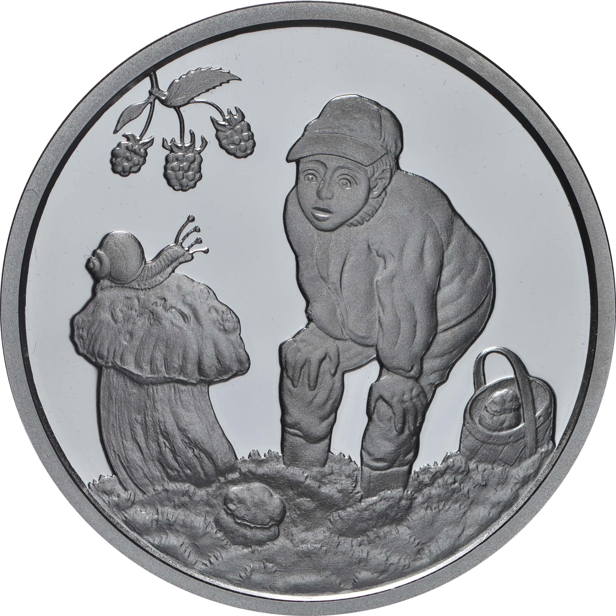 Vorderseite:Lettland : 5 Euro Geschenke des Waldes  2019 PP