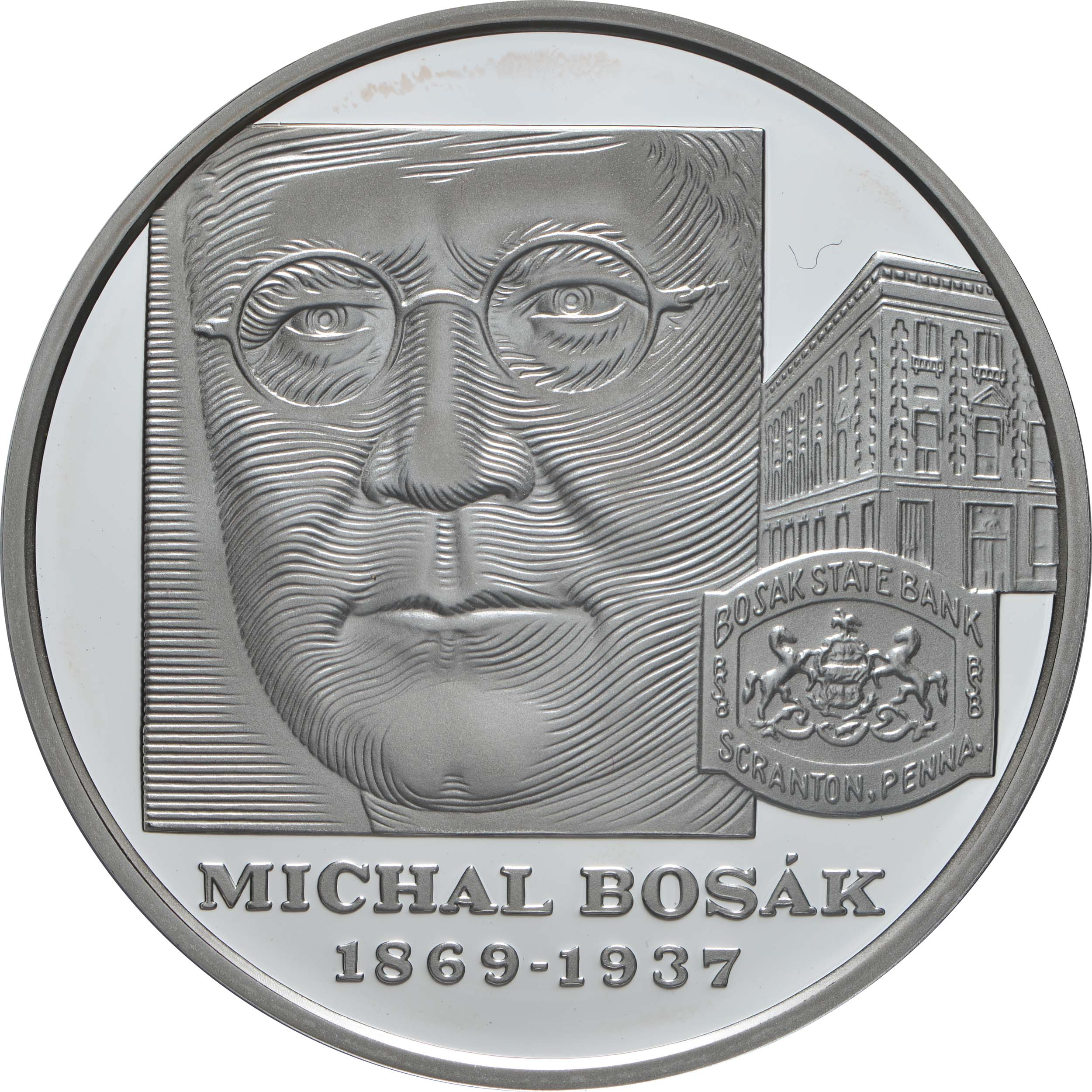 Vorderseite:Slowakei : 10 Euro 150. Geburtstag Michal Bosak  2019 PP